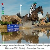 Shenae Lowings tackles the water jump