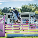Grace Manera & Tallyho Scoundrel at Jumping for Cancer